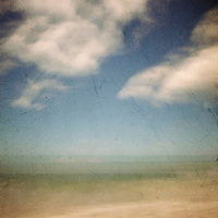 blurred image of a deserted beach