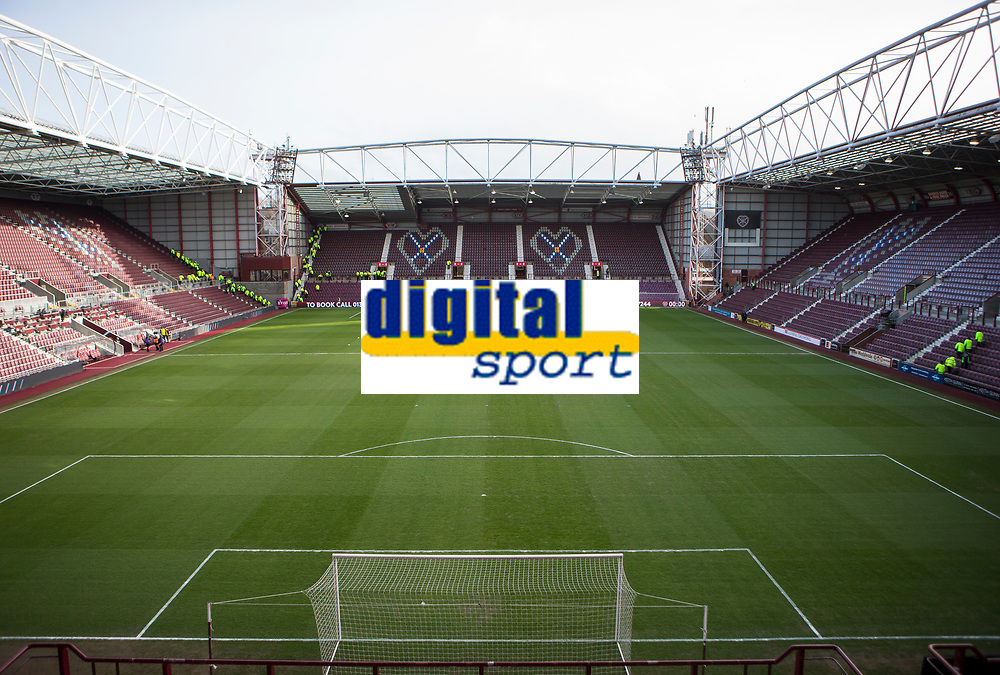 Football - 2019 / 2020 William Hill Scottish Cup - Quarter-Final: Heart of Midlothian vs. Rangers<br /> <br /> A general view of Tynecastle Park, Edinburgh.<br /> <br /> COLORSPORT/BRUCE WHITE