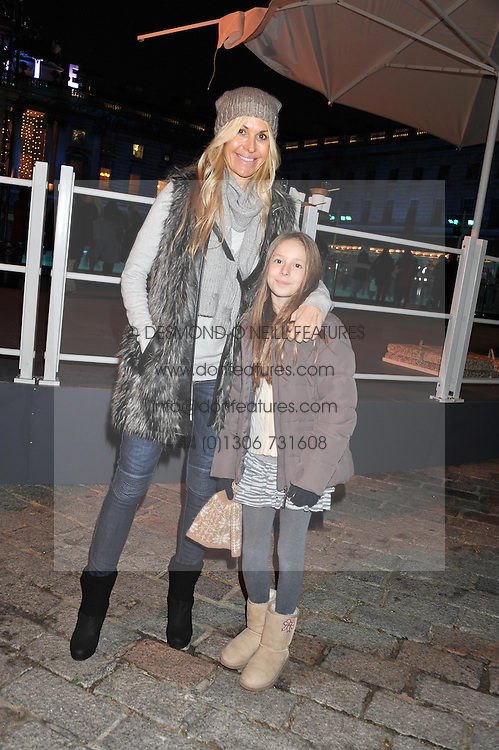 MELISSA ODABASH and her daughter AVALON at a Winter Party hosted by Tiffany to celebrate the opening of the Ice Rink at Somerset House for Christmas 2011 held on 21st November 2011.