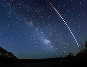 15 second Fireball at the stone Barn Fields with the Milky Way