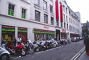 AYBRED Motorbikes outside Foyles bookshop London