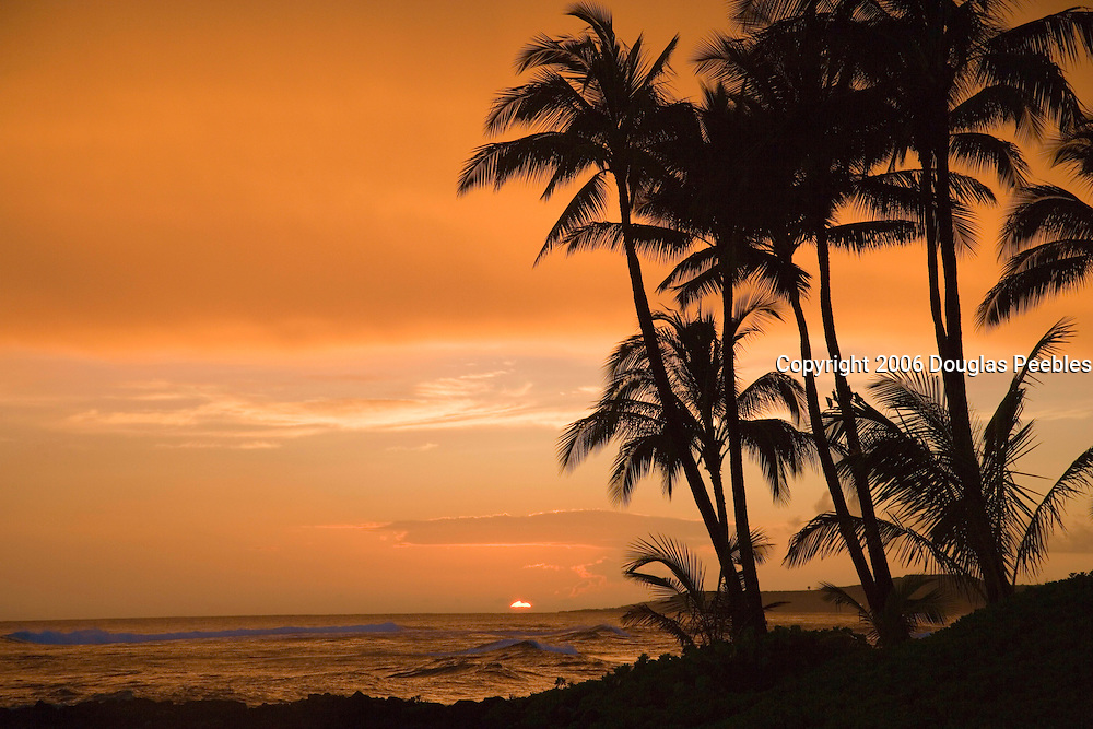 Sunset, Poipu,Kauai, Hawaii