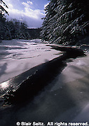 Northeast PA Landscape, ice and snow, Bear Creek, Bear Creek, PA