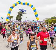 Runners Take Off at the Scenic 5K Start Line in Corona del Mar