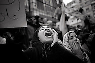EGYPT, Cairo: Demonstration in front of Ministry's Interior building. ph. Christian Minelli.