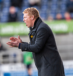 Falkirk's manager Gary Holt.<br /> Falkirk 1 v 1 Livingston, Scottish Championship game today at The Falkirk Stadium.<br /> &copy; Michael Schofield.