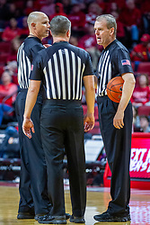NORMAL, IL - December 07: Jeff Malham, Gene Grimshaw and Randy Heimerman during a college basketball game between the ISU Redbirds and the Morehead State Eagles on December 07 2019 at Redbird Arena in Normal, IL. (Photo by Alan Look)