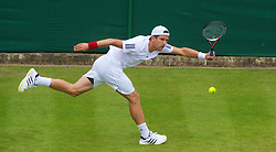 LONDON, ENGLAND - Monday, June 21, 2010: Jurgen Melzer (AUT) during the Gentleman's Singles 1st Round on day one of the Wimbledon Lawn Tennis Championships at the All England Lawn Tennis and Croquet Club. (Pic by David Rawcliffe/Propaganda)