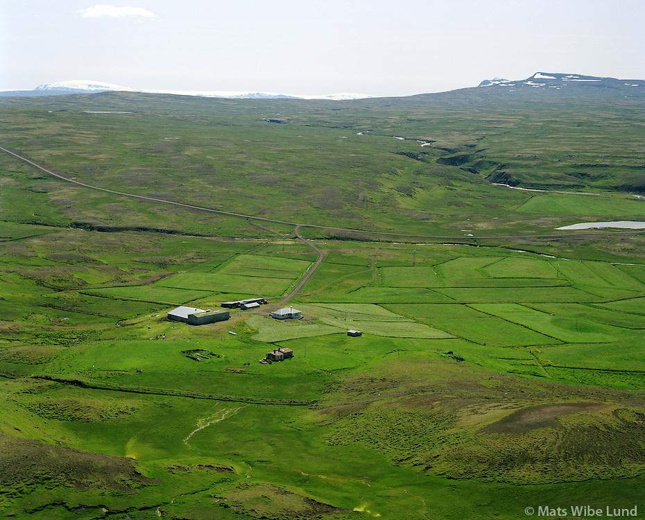 Sólheimar séð til suðurs. Dalabyggð áður Laxárdalshreppur. / Solheimar viewing south. Dalabyggd former Laxardalshreppur.