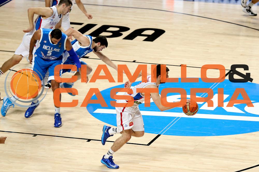 DESCRIZIONE : Madrid FIBA Basketball World Cup Spain 2014 Qualification to 1/4 Finals Serbia Grecia Serbia Greece<br /> GIOCATORE : Stefan MARKOVIC<br /> CATEGORIA : <br /> SQUADRA : Serbia<br /> EVENTO : FIBA Basketball World Cup Spain 2014<br /> GARA : Serbia Grecia Serbia Greece<br /> DATA : 07/09/2014<br /> SPORT : Pallacanestro <br /> AUTORE : Agenzia Ciamillo-Castoria/ElioCastoria<br /> Galleria : FIBA Basketball World Cup Spain 2014<br /> Fotonotizia : Madrid FIBA Basketball World Cup Spain 2014 Qualification to 1/4 Finals Serbia Grecia Serbia Greece