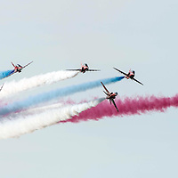 Picture by Christian Cooksey/CookseyPix.com on behalf of South Ayrshire Council. <br /> All rights reserved. For full terms and conditions see www.cookseypix.com<br /> <br /> The Scottish Airshow 2015, Ayr, South Ayrshire.<br /> <br /> The Red Arrows.