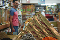 A model made of spices with the Dome of the Rock on top in a shop in the Old City of Jerusalem. From a series of travel photos taken in Jerusalem and nearby areas. Photo date: Thursday, August 2, 2018. Photo credit should read: Richard Gray/EMPICS