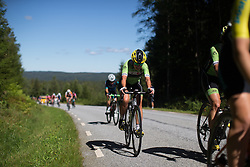 Rachele Barbieri (ITA) of Cylance Pro Cycling digs deep on the first KOM climb of the 117,5 km third stage of the 2016 Ladies' Tour of Norway women's road cycling race on August 13, 2016 between Svinesund, Sweden and Halden, Norway. (Photo by Balint Hamvas/Velofocus)