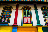 A colorful building in Little India, Singapore.
