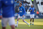 Richard Stearman of Huddersfield Town warming up during the EFL Sky Bet Championship match between Huddersfield Town and Brentford at the John Smiths Stadium, Huddersfield, England on 18 January 2020.