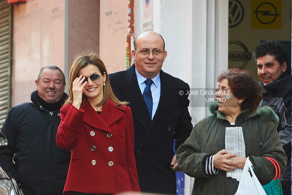 Queen Letizia of Spain attends a working meeting with the Board of the Spanish Federation of Rare Diseases (FEDER) at FEDER offices on January 27, 2015 in Madrid