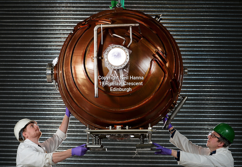 National Museums of Scotland, Collections Centre, Granton, Edinburgh.<br /> <br /> National Museums of Scotland has acquired a copper accelerator cavity from CERN<br /> <br />  Neil Hanna Photography<br /> www.neilhannaphotography.co.uk<br /> 07702 246823