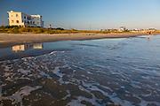 Beach development, shoreline development, beach houses, Galveston, Texas, Texas coast.