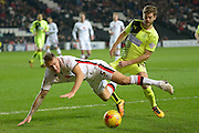 MK Dons defender Kyle McFadzean during the Sky Bet Championship match between Milton Keynes Dons and Huddersfield Town at stadium:mk, Milton Keynes, England on 23 February 2016. Photo by Dennis Goodwin.