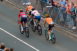 ROWE Luke from GREAT BRITAIN and LEEZER Thomas NETHERLANDS during Men Elite Road Race 2019 UEC European Road Championships, Alkmaar, The Netherlands, 11 August 2019. <br /> <br /> Photo by Pim Nijland / PelotonPhotos.com <br /> <br /> All photos usage must carry mandatory copyright credit (Peloton Photos | Pim Nijland)