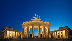 Night view of Brandenburg Gate in Berlin Germany