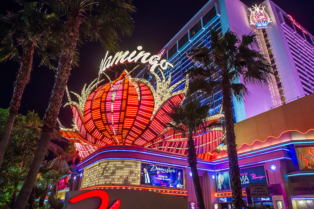 LAS VEGAS - OCT 05 : The Flamingo hotel and casino on October 05 , 2016 in Las Vegas. The hotel opened by Bugsy Segal on 1946 and it's the oldest resort on the Strip still in operation