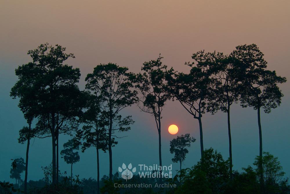 Sunset in Uthai Thani, Thailand.