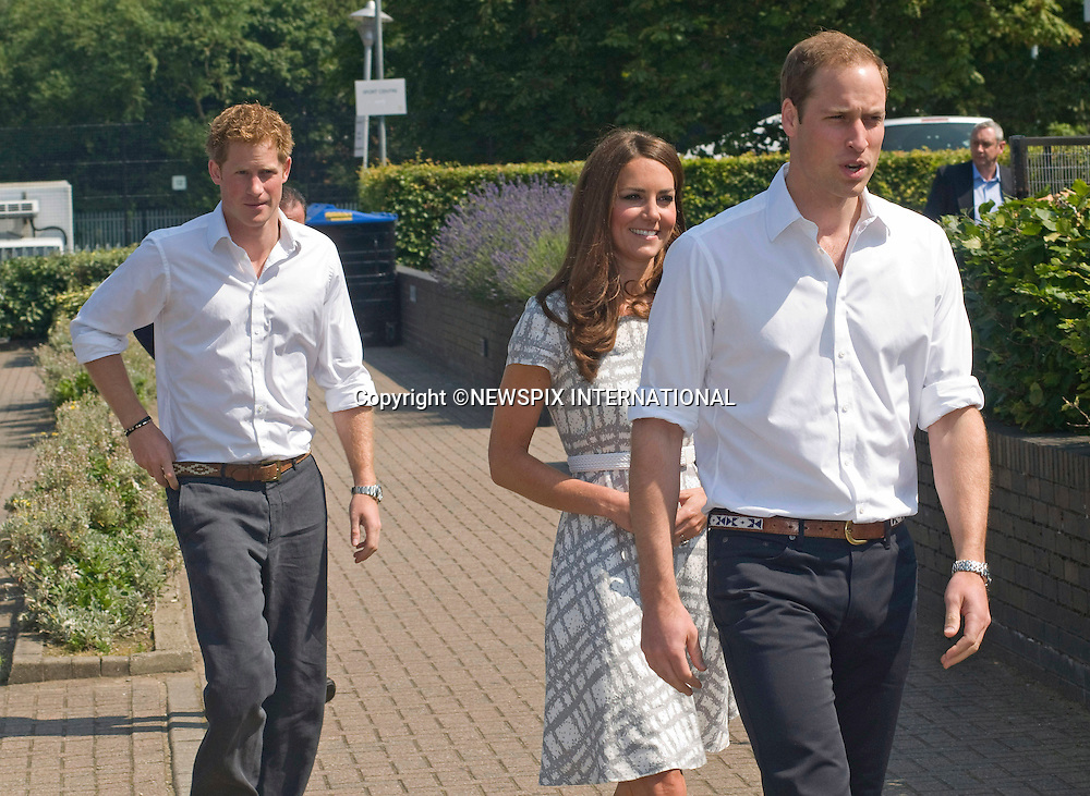 """CATHERINE, DUCHESS OF CAMBRIDGE, PRINCE WILLIAM AND PRINCE HARRY.attend the sports-themed event, to launch the Coach Core programme, a partnership between their Foundation and Greenhouse at Bacon's College, South London_26/07/2012.Mandatory credit photo: ©Dias/NEWSPIX INTERNATIONAL..(Failure to credit will incur a surcharge of 100% of reproduction fees)..                **ALL FEES PAYABLE TO: """"NEWSPIX INTERNATIONAL""""**..IMMEDIATE CONFIRMATION OF USAGE REQUIRED:.Newspix International, 31 Chinnery Hill, Bishop's Stortford, ENGLAND CM23 3PS.Tel:+441279 324672  ; Fax: +441279656877.Mobile:  07775681153.e-mail: info@newspixinternational.co.uk"""
