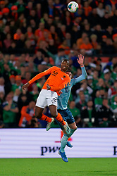 10-10-2019 NED: Netherlands - Northern Ireland, Rotterdam<br /> UEFA Qualifying round Group C match between Netherlands and Northern Ireland at De Kuip in Rotterdam / Denzel Dumfries #22 of the Netherlands, Kyle Lafferty #1 0of Northern Ireland