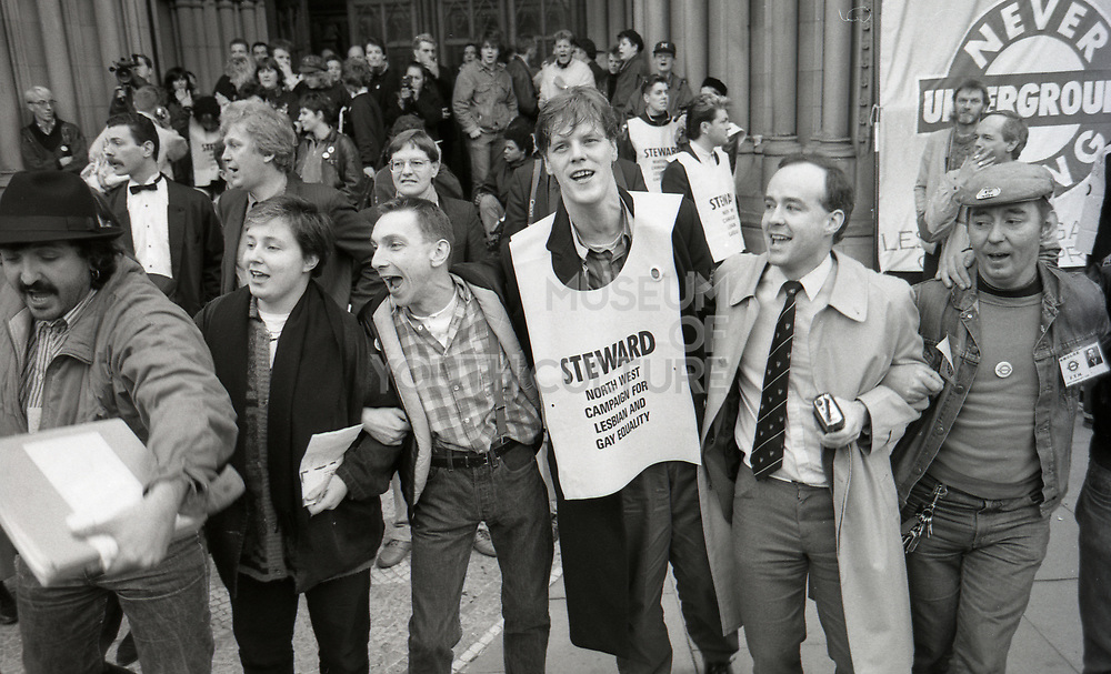 Marchers, Anti Clause 28 demonstration, Manchester, 1988