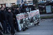 Magdeburg | 18 Jan 2014<br /> <br /> ACHTUNG BESONDERE HONORARKONDITIONEN!<br /> <br /> Am Samstag (19.01.2014) marschierten etwa 1000 Neonazis bei einem &quot;Gedenkmarsch&quot; durch Magdeburg, um der Bombardierungen der Stadt im 2. Weltkrieg zu &quot;gedenken&quot;.<br /> Hier: Neonazis aus Magdeburg bei der Demo.<br /> <br /> &copy;peter-juelich.com<br /> <br /> [No Model Release | No Property Release]
