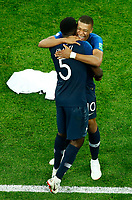 Kylian Mbappe (France) and Samuel Umtiti (France) celebration<br /> Saint Petersburg 10-07-2018 Football FIFA World Cup Russia  2018 Semifinal <br /> France - Belgium / Francia - Belgio <br /> Foto Matteo Ciambelli/Insidefoto