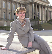 PHOTOGRAPH BY HOWARD BARLOW..........BOLTON'S LABOUR MP RUTH KELLY outside the Town Hall