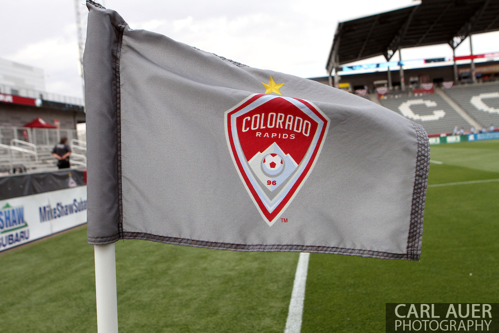 July 4th, 2013 - A corner marker flag prior to the start of action in the Major League Soccer match between New York Red Bulls and the Colorado Rapids at Dick's Sporting Goods Park in Commerce City, CO