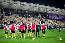 Team Sevilla at warming up prior to the football match between NK Maribor and Sevilla FC (ESP) in 1st Leg of Round of 32 of UEFA Europa League 2014 on February 20, 2014 at Stadium Ljudski vrt, Maribor, Slovenia. Photo by Vid Ponikvar / Sportida
