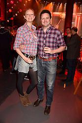 Olivia Inge and Peter Davies at the Save The Children's Night of Country at The Roundhouse, London England. 2 March 2017.