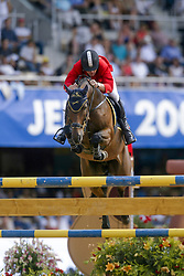 Govoni Gianni (ITA) - Loro Piana Havinia<br /> Nations Cup round 1<br /> World Equestrian Games Jerez de la Fronteira 2002<br /> Photo © Hippo Foto - Dirk Caremans