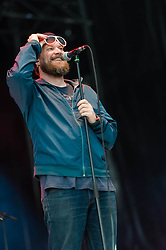 © Licensed to London News Pictures. 30/05/2014. Barcelona, Spain.   John Grant performing live at Primavera Sound festival. In this picture - John Grant.  John Grant is an American singer-songwriter. Formerly associated with the Denver-based alternative rock band The Czars in the 1990s and early 2000s, he launched a career as a solo artist in 2010.    Primavera Sound, or simply Primavera, is an annual music festival that takes place in Barcelona, Spain in late May/June within the Parc del Fòrum leisure site. Photo credit : Richard Isaac/LNP