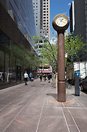 Street clock on Madison Avenue at 53rd street.