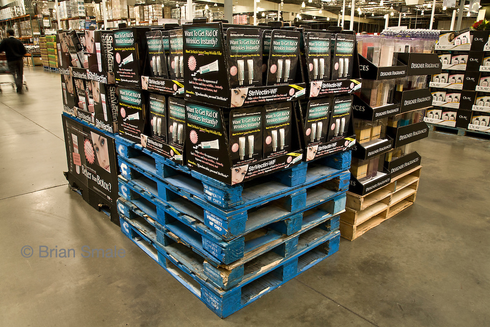 Pictures of products sold by Costco Wholesale.  Photographed by Brian Smale in Seattle, for BusinessWeek Magazine.