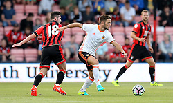 Alvaro Medran of Valencia goes past Lewis Cook of Bournemouth - Mandatory by-line: Robbie Stephenson/JMP - 03/08/2016 - FOOTBALL - Vitality Stadium - Bournemouth, England - AFC Bournemouth v Valencia - Pre-season friendly
