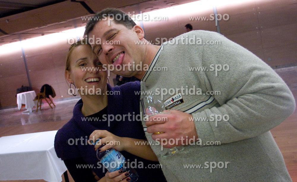 Nina Ostrbenk and Aleksander Gasser at  Slovenian sportsman of the year 2008 ceremony, on December 22, 2008, in Cankarjev dom, Ljubljana, Slovenia. (Photo by Vid Ponikvar / SportIda).