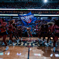 Jan 12, 2018; New Orleans, LA, USA; New Orleans Pelicans dance team performs during introductions before a game against the Portland Trail Blazers at the Smoothie King Center. Mandatory Credit: Derick E. Hingle-USA TODAY Sports