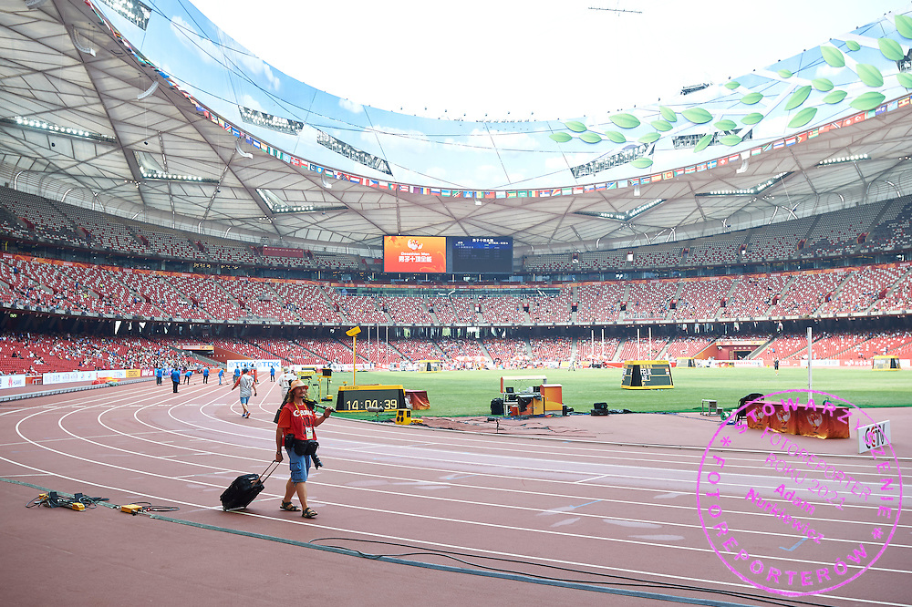 Think Tank Photo equipment during Day Eight of the 15th IAAF World Athletics Championships Beijing 2015 at Bird's Nest National Stadium in Beijing, China.<br /> <br /> China, Beijing, August 29, 2015<br /> <br /> Picture also available in RAW (NEF) or TIFF format on special request.<br /> <br /> For editorial use only. Any commercial or promotional use requires permission.<br /> <br /> Adam Nurkiewicz declares that he has no rights to the image of people at the photographs of his authorship.<br /> <br /> <br /> Mandatory credit:<br /> Photo by &copy; Adam Nurkiewicz / Mediasport