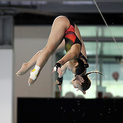 19.08.2014, Europa Sportpark, Berlin, GER, LEN, Schwimm EM 2014, Turmspringen, 10m, Synchron, Damen, Finale, im Bild Maria Kurjo, My Phan (Deutschland) // during the finals of women's 10m synchronous Diving of the LEN 2014 European Swimming Championships at the Europa Sportpark in Berlin, Germany on 2014/08/19. EXPA Pictures © 2014, PhotoCredit: EXPA/ Eibner-Pressefoto/ Lau<br /> <br /> *****ATTENTION - OUT of GER*****