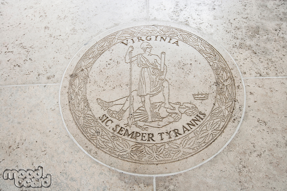 Seal of Virginia in Fort Bonifacio; Manila; Philippines