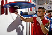 JUNE 24TH 2009, Victo Oritz & Marcos Maidana host an open media workout in Los Angeles, CA at Urbina Westwide Boxing Gym. The two will meet Saturday, June 27th at the Staple Center.
