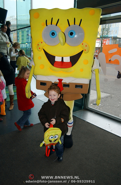 Premiere Sponce Bob the movie, zoon Monica van der Marel