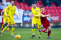 Ollie Clarke of Bristol Rovers goes past Sam Finley of Accrington Stanley - Mandatory by-line: Robbie Stephenson/JMP - 12/01/2019 - FOOTBALL - Wham Stadium - Accrington, England - Accrington Stanley v Bristol Rovers - Sky Bet League One