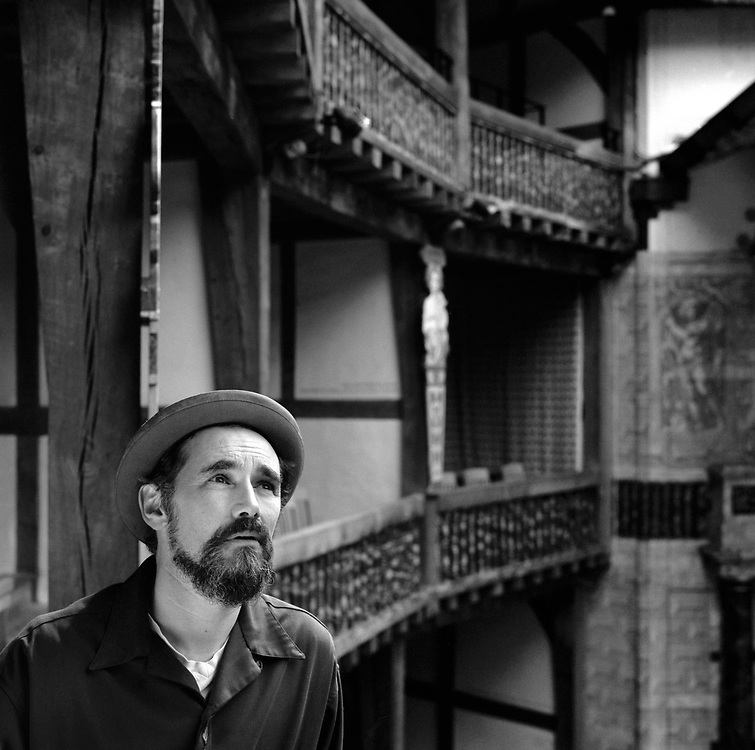 "Actor and Artistic Director of the London Globe Theatre, Mark Rylance, photographed at the Globe Theatre, the Southbank, London. Rylance is currently palying several roles in his own production of Shakespeare's ""The Tempest' at The Globe."